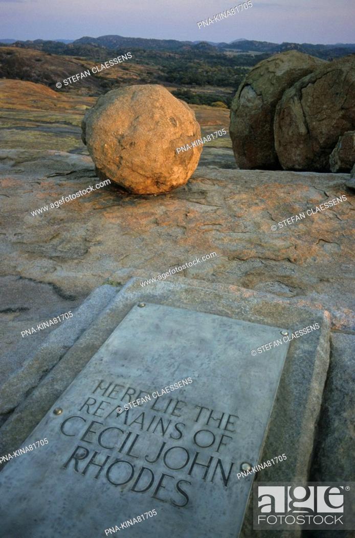 Stock Photo: Matopos national park, Malindidzimu Mountain, Cecil Rhodes' grave, Matobo Hills, Bulawayo, Zimbabwe, Africa.
