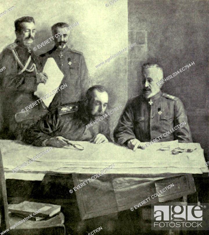 russian czar nicholas ii with his cousin grand duke nicholas