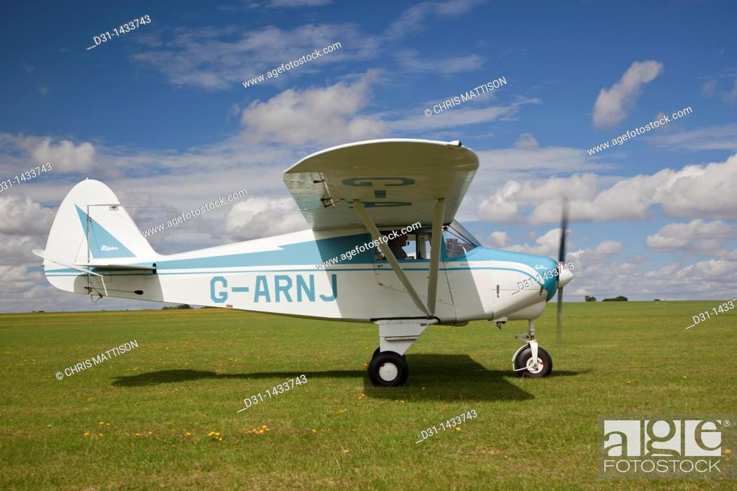 Piper PA-22 Colt, reg G-ARNJ, at Sywell, Stock Photo, Picture And