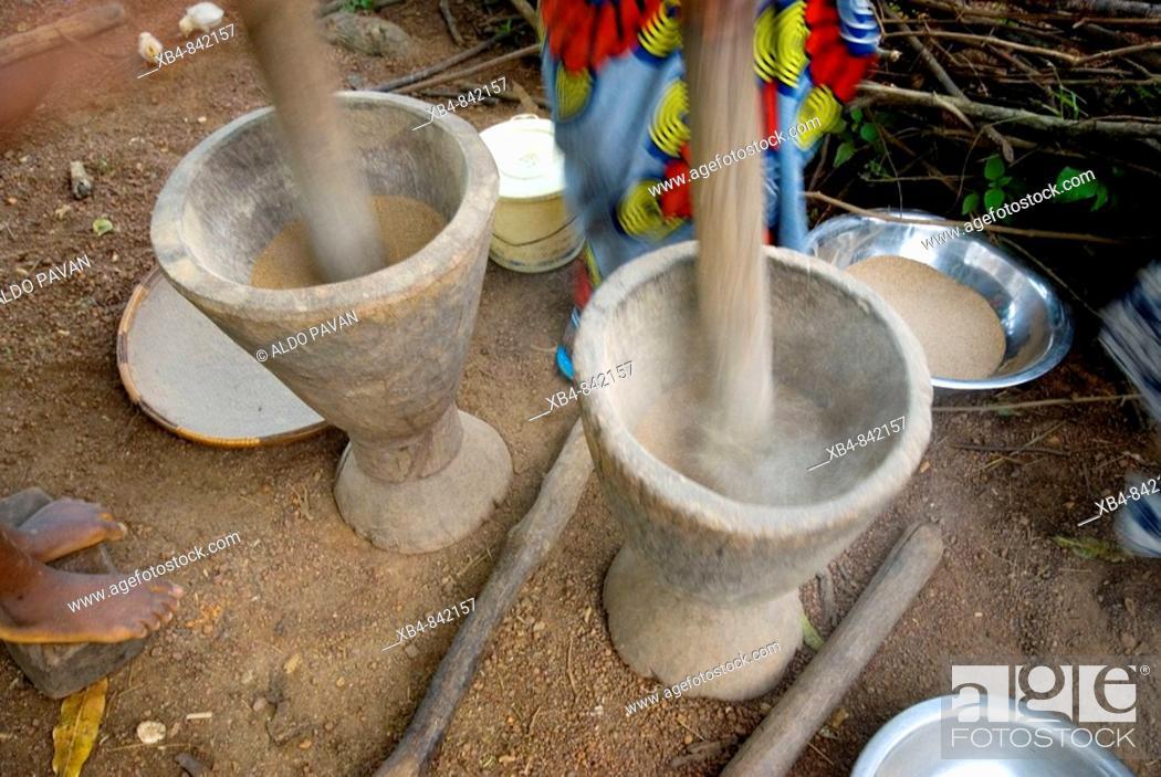 Stock Photo: Village near Dabola, Republic of Guinea.