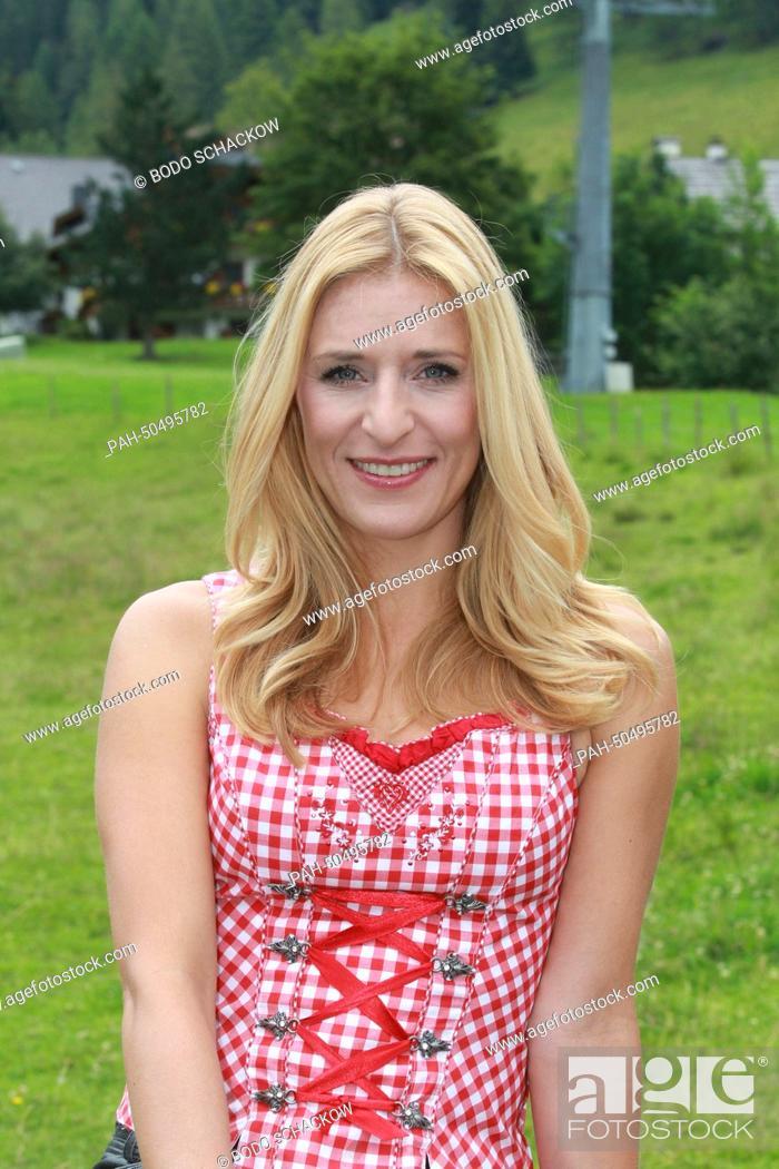 German folk music singer Stefanie Hertel during the rendezvous of