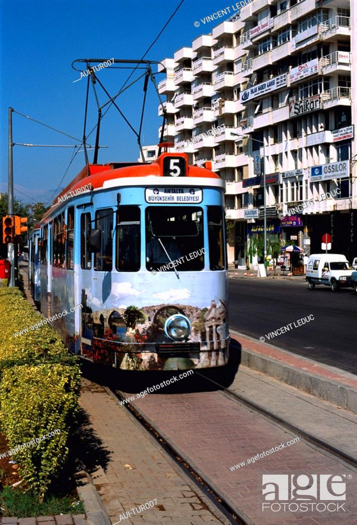 Stock Photo: Turkey - Mediterranean Coast - Antalya Region - Kaleici Quarter.