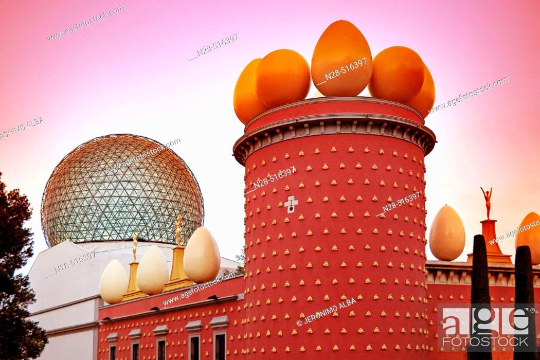 Stock Photo: Dalí's Theatre Museum. Figueres. Catalonia. Spain.
