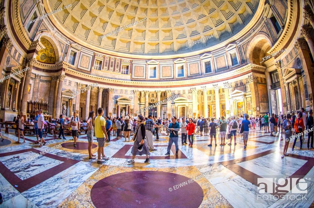 Rome, Italy, - The Pantheon, former roman temple now used as a