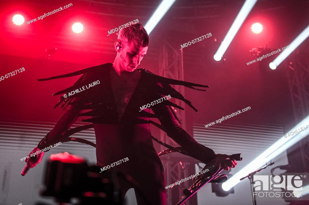 Italian Rapper And Singer Achille Lauro Performs Live On Stage With The Italian Musician And Stock Photo Picture And Rights Managed Image Pic Mdo 07327128 Agefotostock