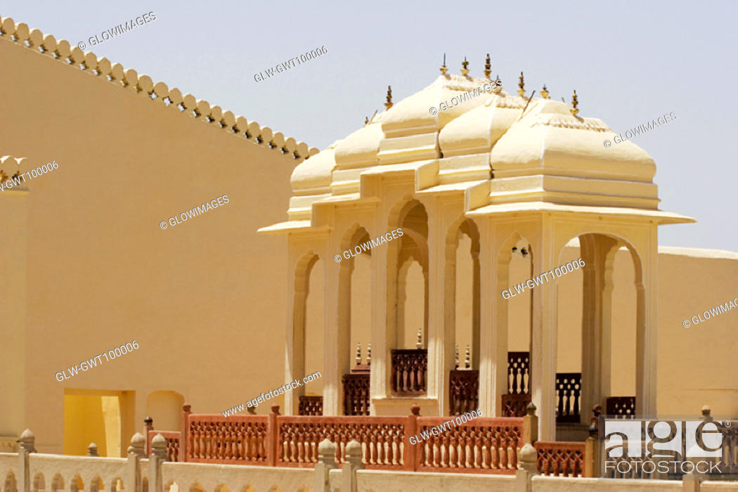 Stock Photo: Gazebos in a palace, City Palace Complex, City Palace, Jaipur, Rajasthan, India.