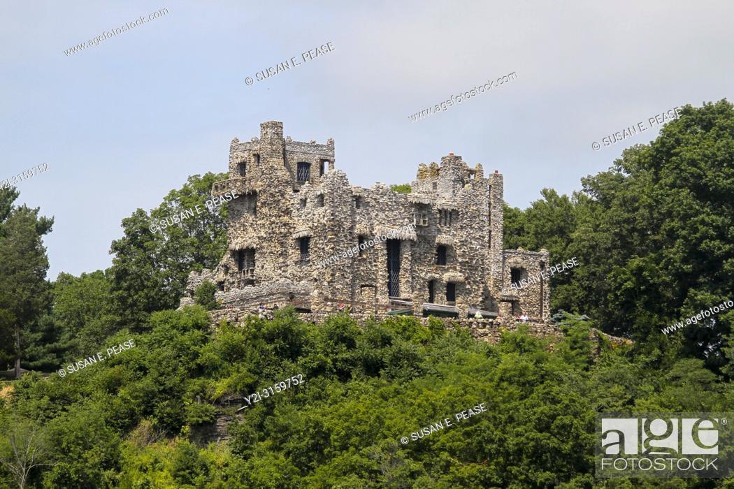 Stock Photo: Gillette Castle, Gillette Castle State Park, East Haddam, Connecticut, United States.