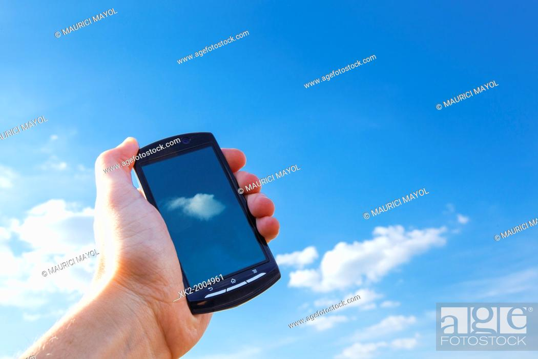 Stock Photo: The Cloud in your palm.
