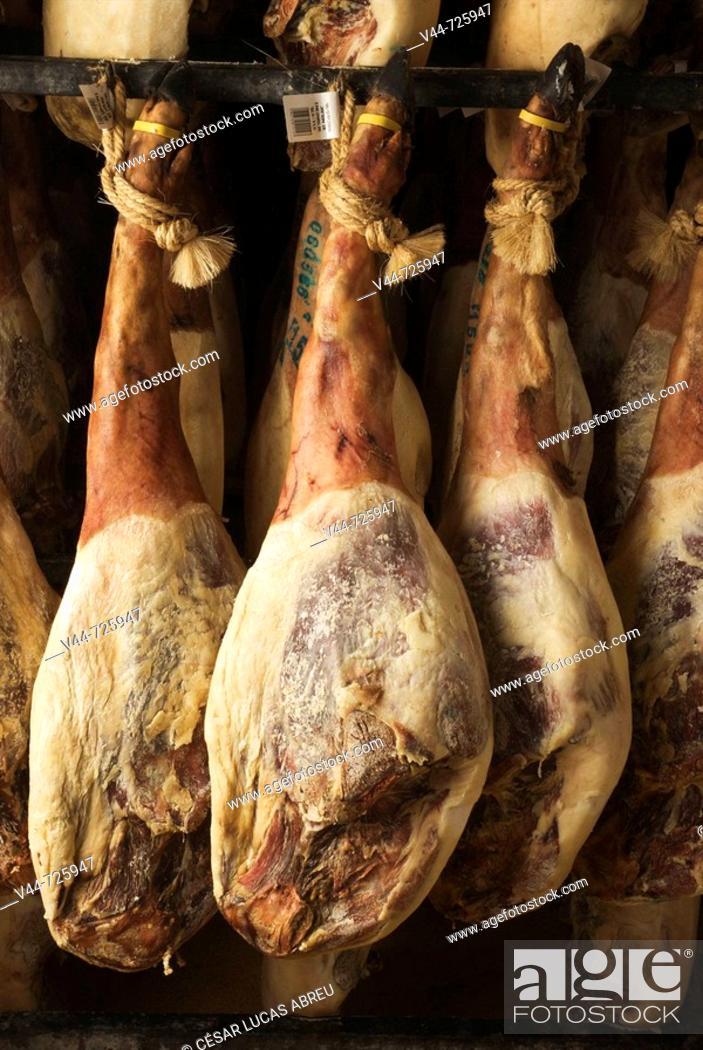 Stock Photo: 'Pata negra' cured Iberian ham.