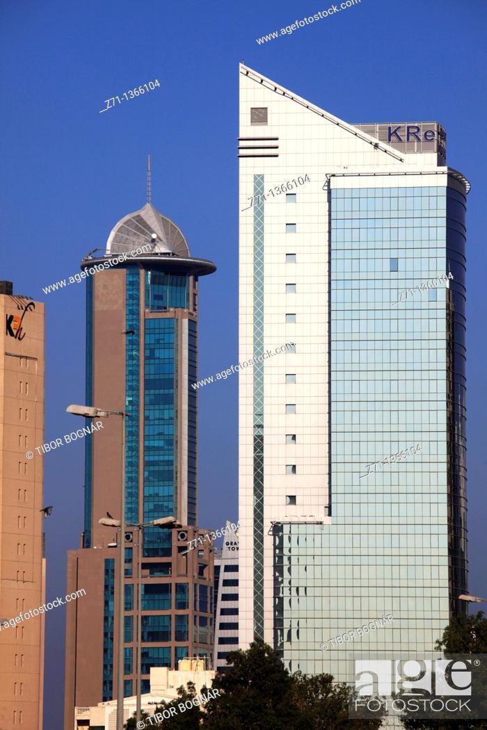 Stock Photo: Kuwait, Kuwait City, skyscrapers.