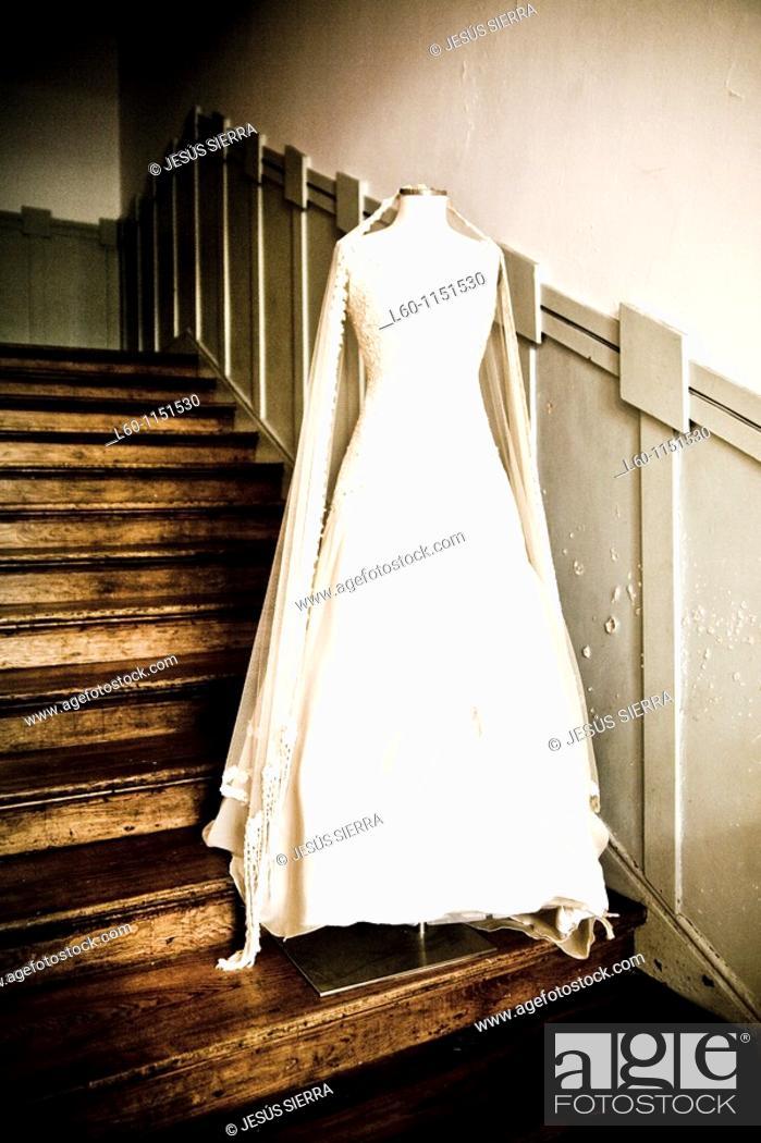 Stock Photo: wedding dress.