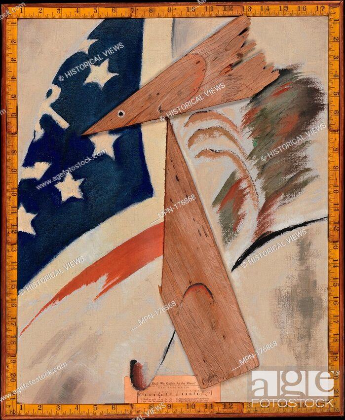Stock Photo: Portrait of Ralph Dusenberry. Artist: Arthur Dove (American, Canandaigua, New York 1880-1946 Huntington, New York); Date: 1924; Medium: Oil.