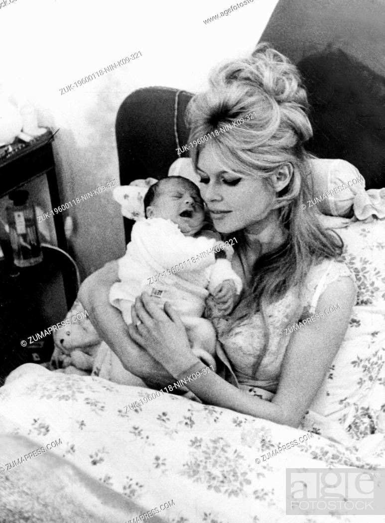 18, 1960 - Paris, France - French movie star BRIGITTE BARDOT with her  newborn son NICOLAS JACQUES ... . The archetypal sex kitten, she was the  first ...