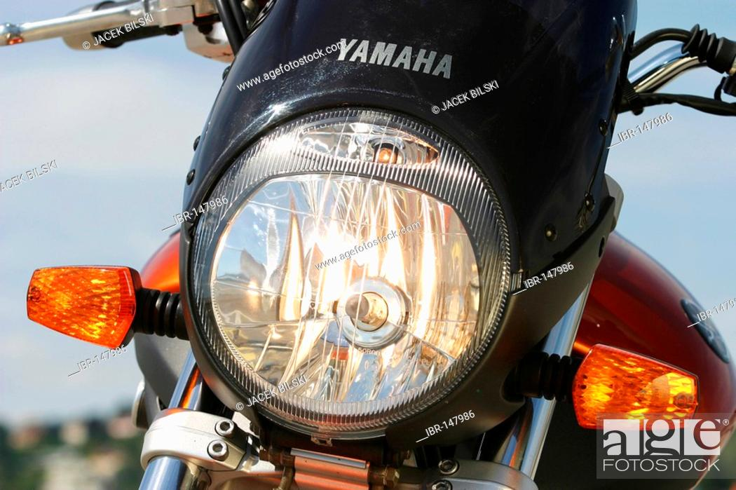 Stock Photo: Headlights, Yamaha Bulldog 1100 BT.