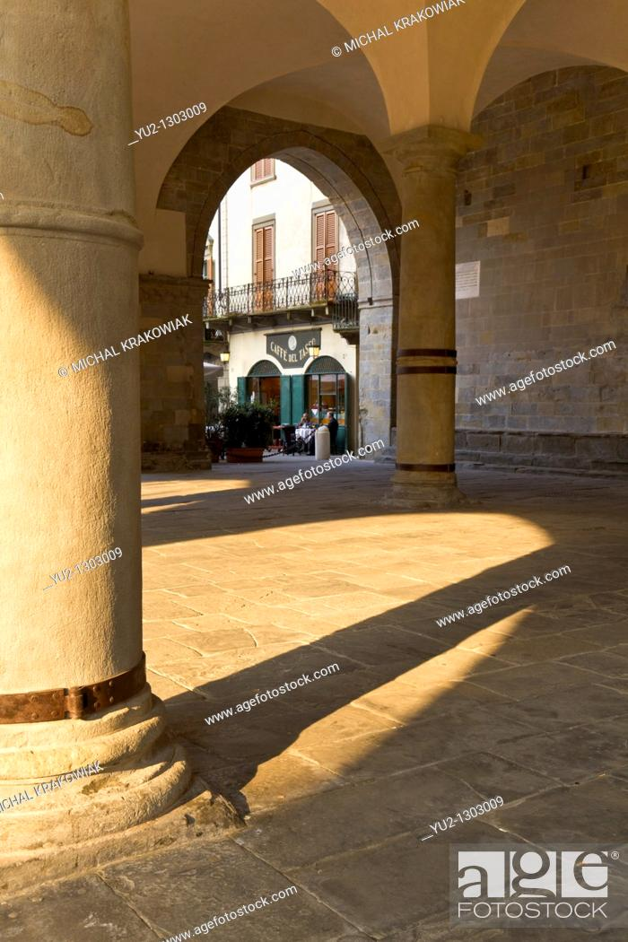 Stock Photo: Piazza Duomo in old town of Bergamo, Italy.