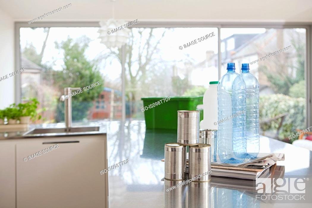 Stock Photo: Objects for recycling.