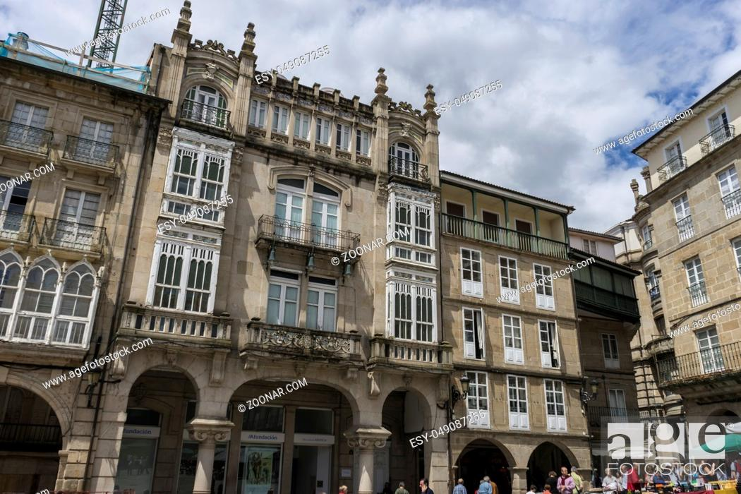 Photo de stock: Old and classic buildings of the Spanish city of Orense, Galicia.