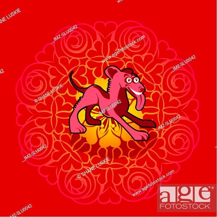 Stock Photo: Chinese new year symbol of dog.