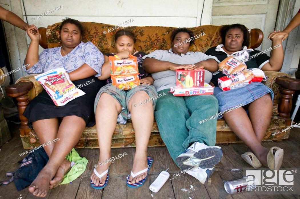 Stock Photo: The Herrins Family, Prenttis. Mississippi, USA.
