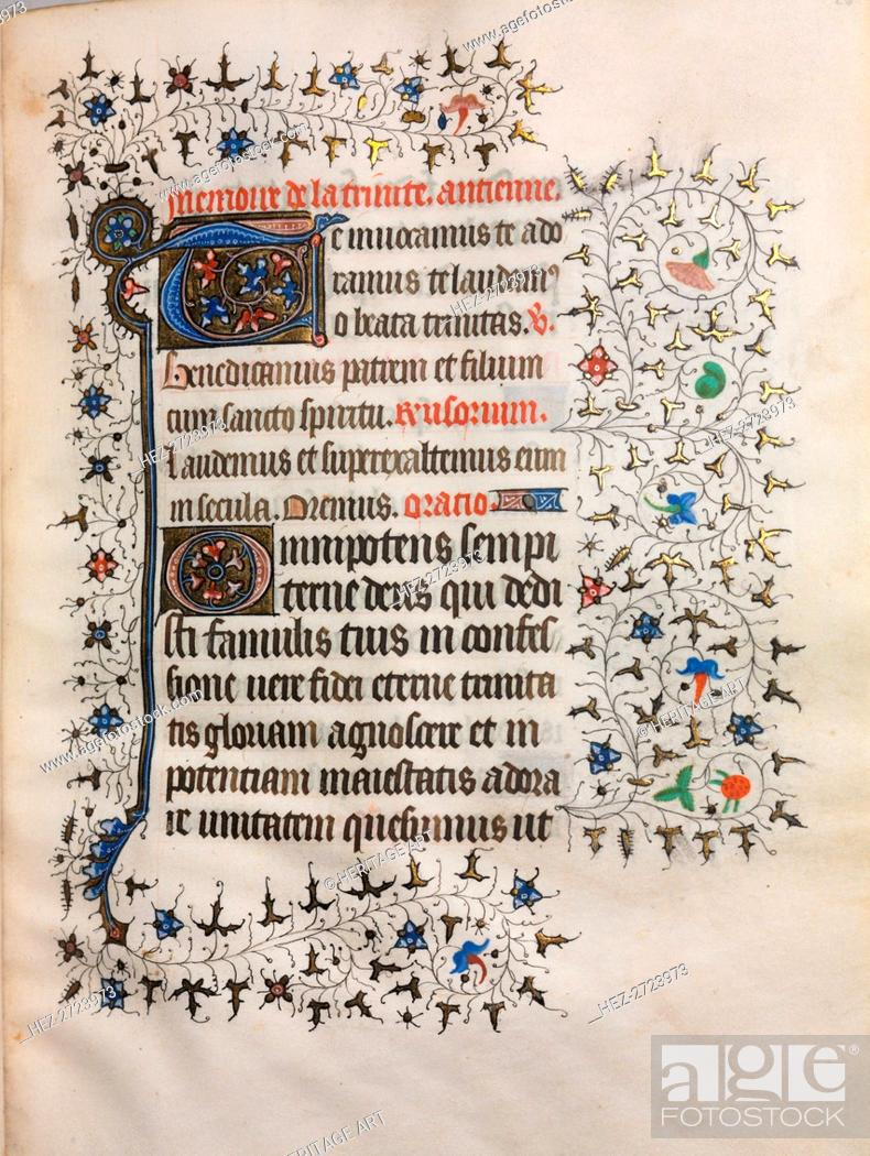 Book Of Hours Use Of Paris Decorated Initial C 1420 Stock Photo Picture And Rights Managed Image Pic Hez 2723973 Agefotostock