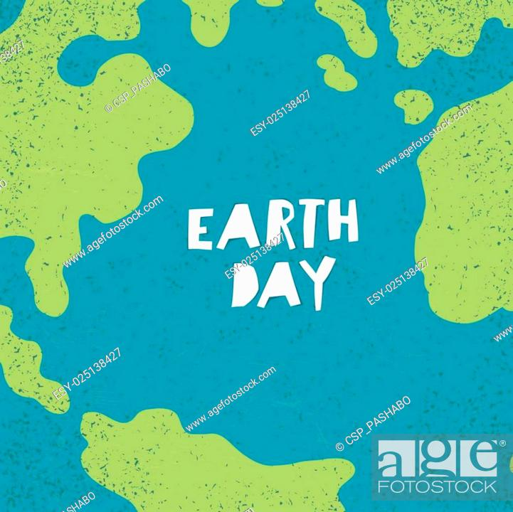 Stock Vector: Earth day concept. Creative design poster for Earth Day.