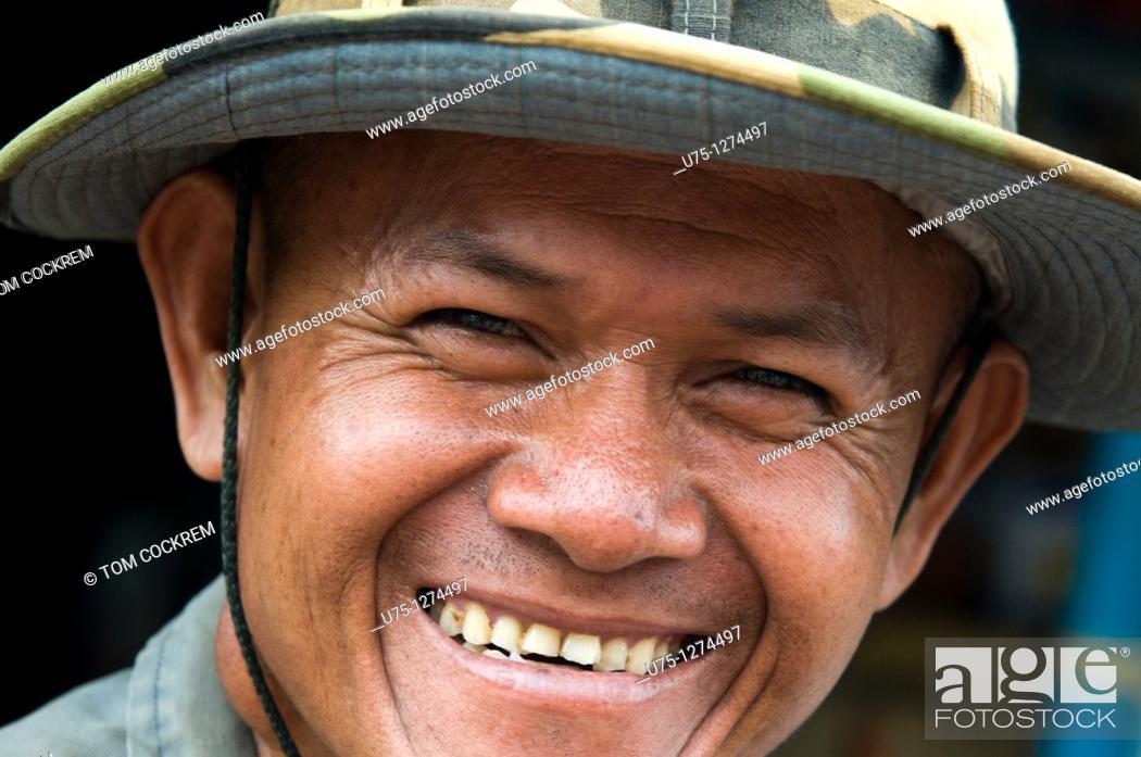 Stock Photo: Man in Kompong Thom, Cambodia.