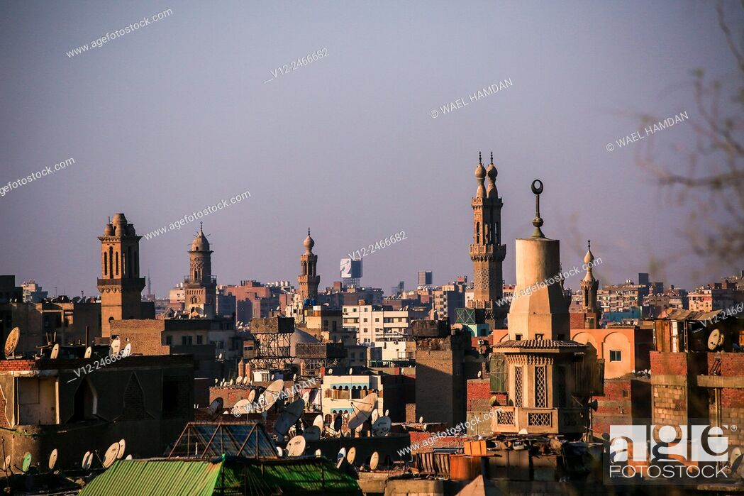 Stock Photo: Higher view of Islamic Cairo, Cairo, Egypt.