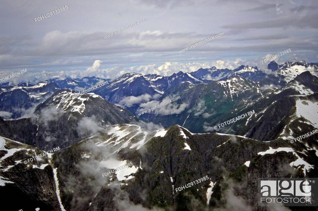 Stock Photo: aerial view some west coastal rocky mountain.