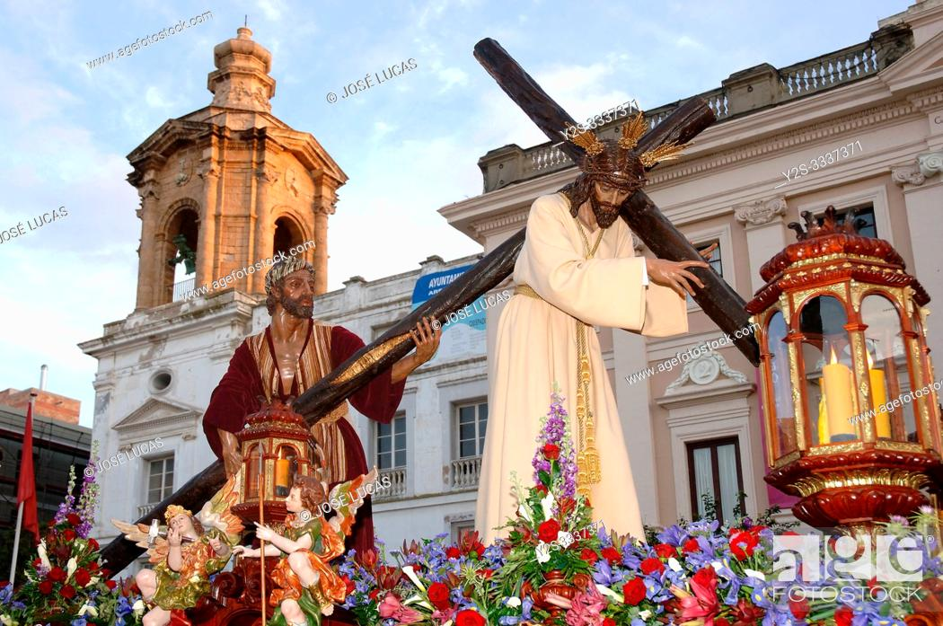 Stock Photo: Holy Week. Brotherhood of the Nazareno del Amor. Cadiz. Region of Andalusia. Spain. Europe.
