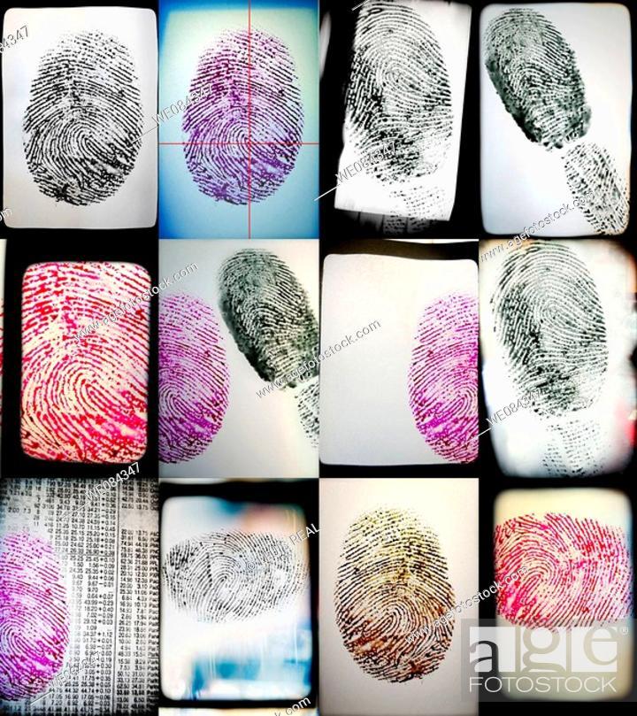 Stock Photo: Fingerprint - Huella digital.