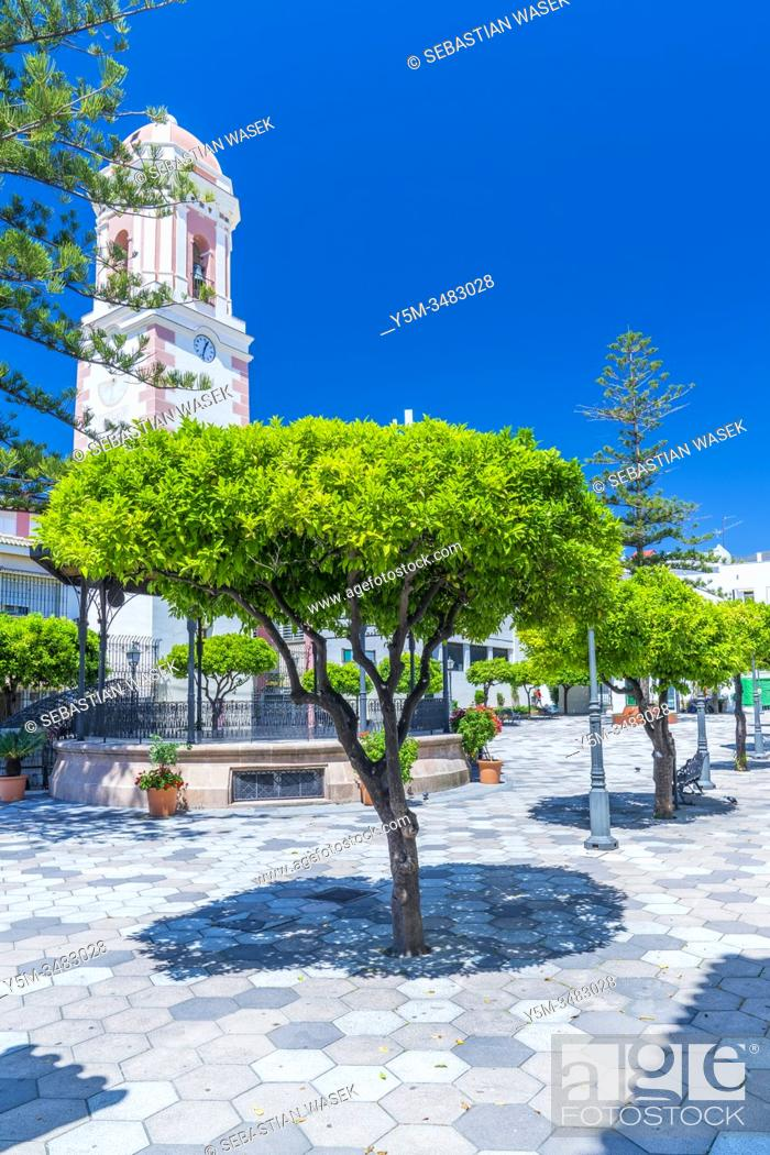Stock Photo: Plaza del Reloj, Estepona, Andalucia, Spain, Europa.