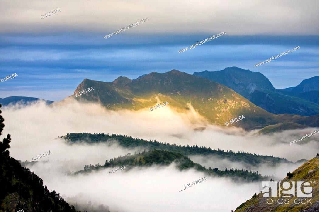 Stock Photo: Landscape in Belagua valley  Navarra  Spain.