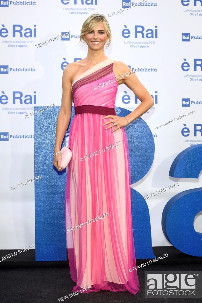 Stock Photo: Francesca Fialdini during the Rai programming launch in Milan, ITALY-09-07-2019.