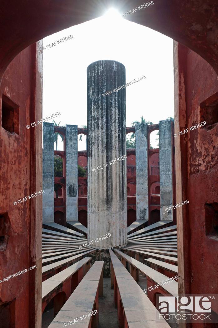 Stock Photo: Observatory Jantar Mantar, New Delhi, India, Asia.