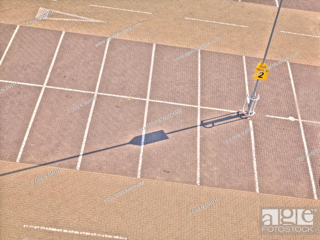 Stock Photo: Empty parking lot.