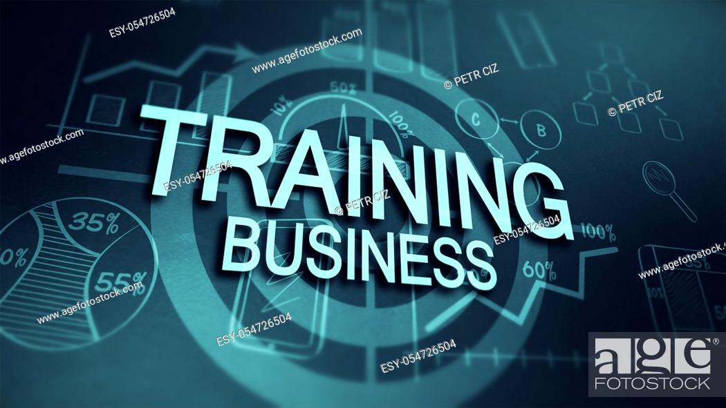 Stock Photo: Business training and targeted marketing.