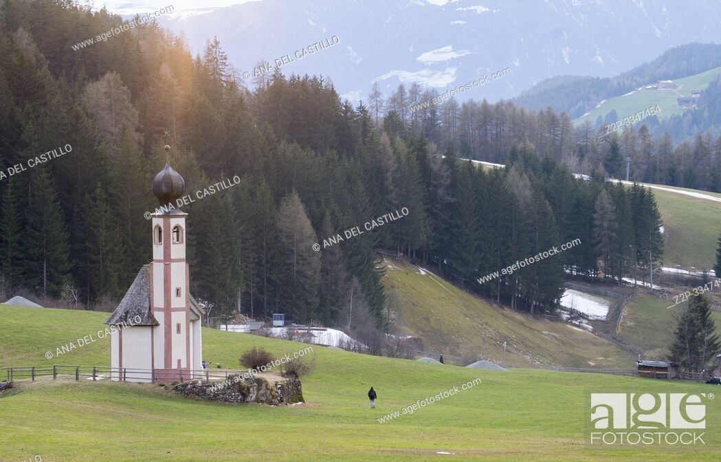 Stock Photo: Santa Maddalena in Val di Funes, - Villnoss, Southtirol North of Italy.