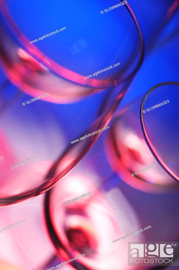 Stock Photo: Close-up of four wineglasses.