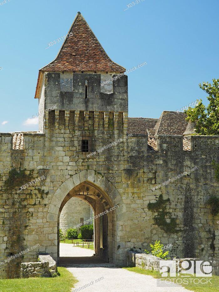 Stock Photo: Chateau Bridoire, Dordogne Department, Nouvelle-Aquitaine, France.
