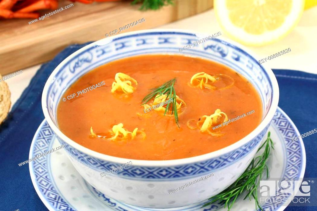 Stock Photo: Asian Lobster Bisque.