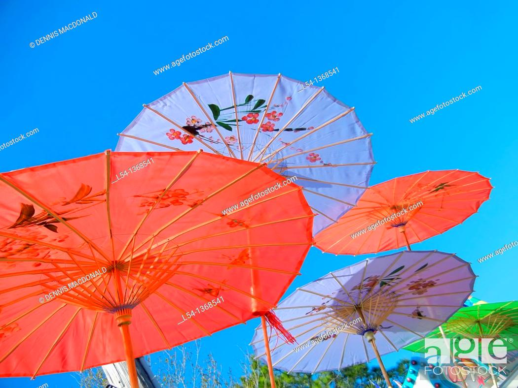 Stock Photo: Colorful parasol umbrella.