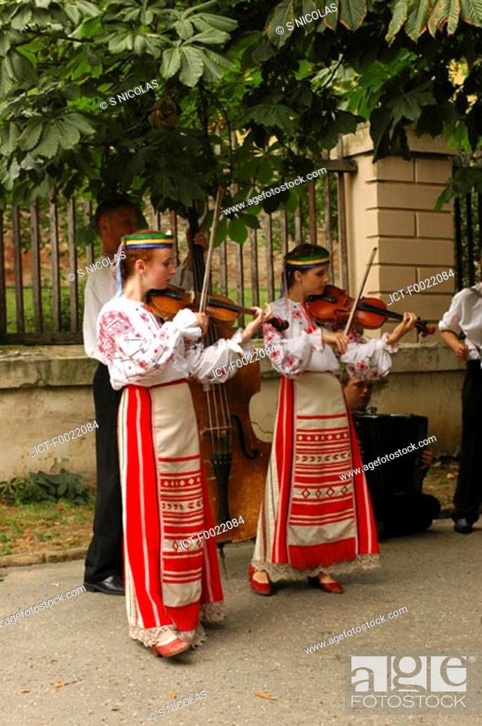 Stock Photo: Hungary, PÚcs, folklore.