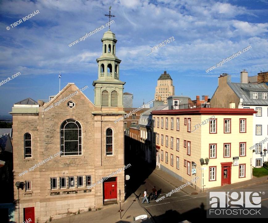 Stock Photo: Canada, Québec, Quebec City, Jesuits' Church, d'Auteuil Street.