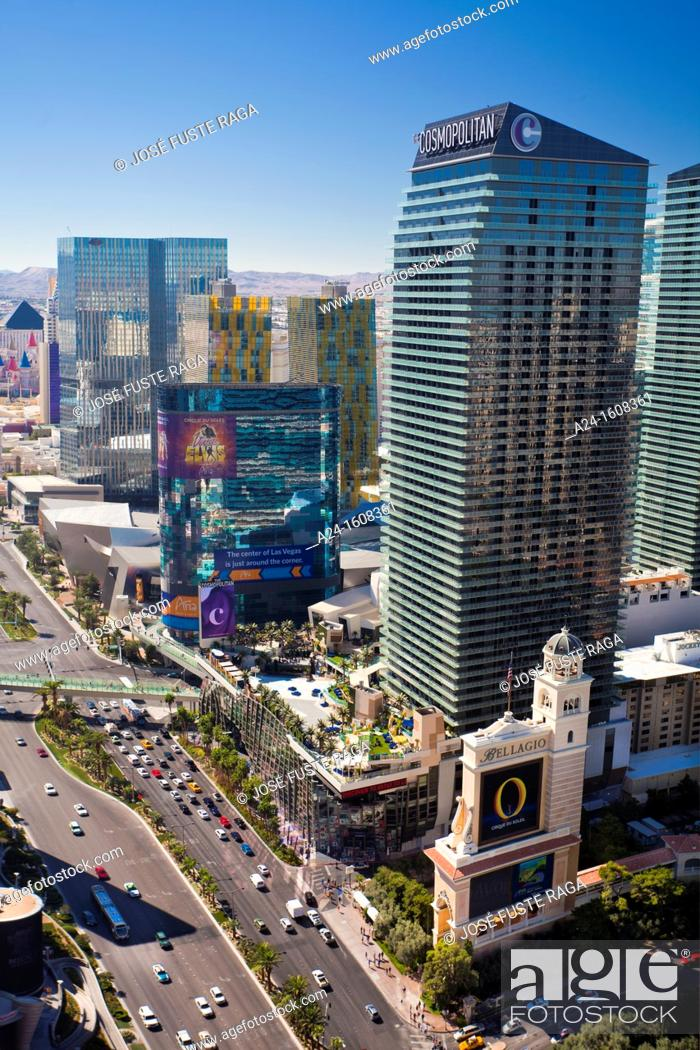 Stock Photo: USA-Nevada-Las Vegas City-The Strip Avenue-.