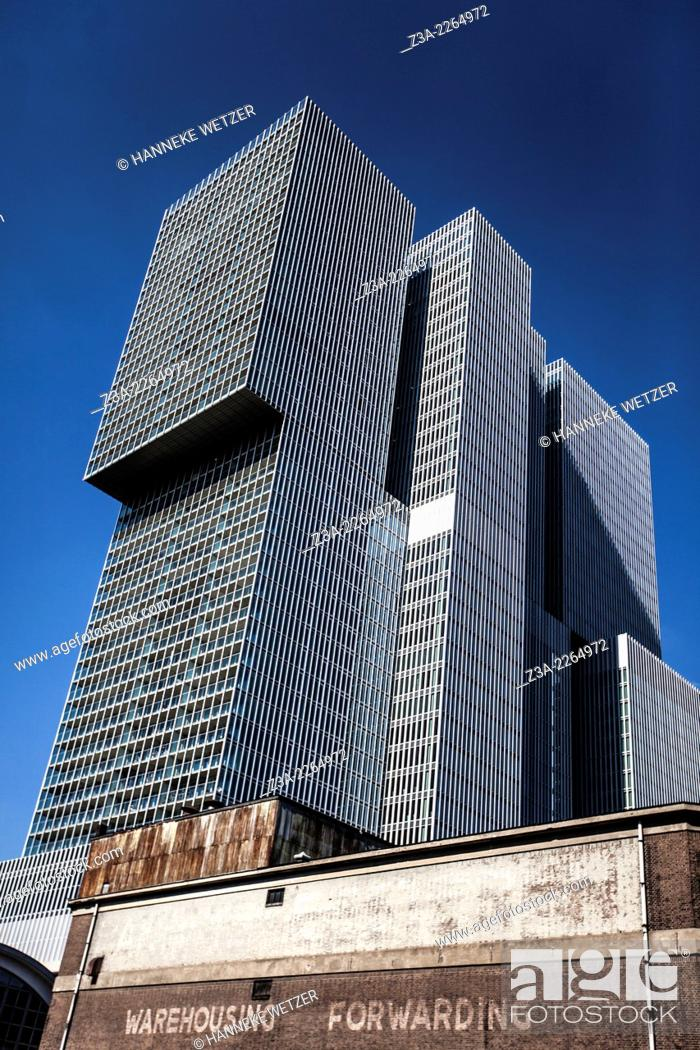 Stock Photo: De Rotterdam by OMA (Rem Koolhaas) in Rotterdam, The Netherlands.