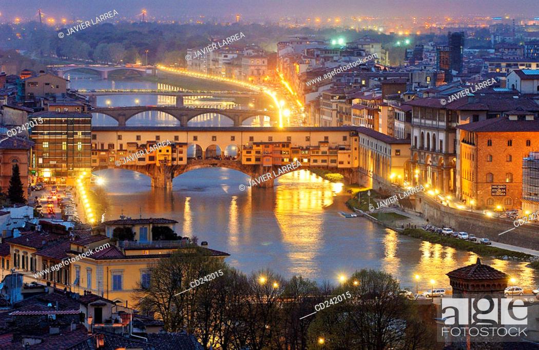 Stock Photo: Ponte Vecchio on Arno river. Florence. Tuscany, Italy.
