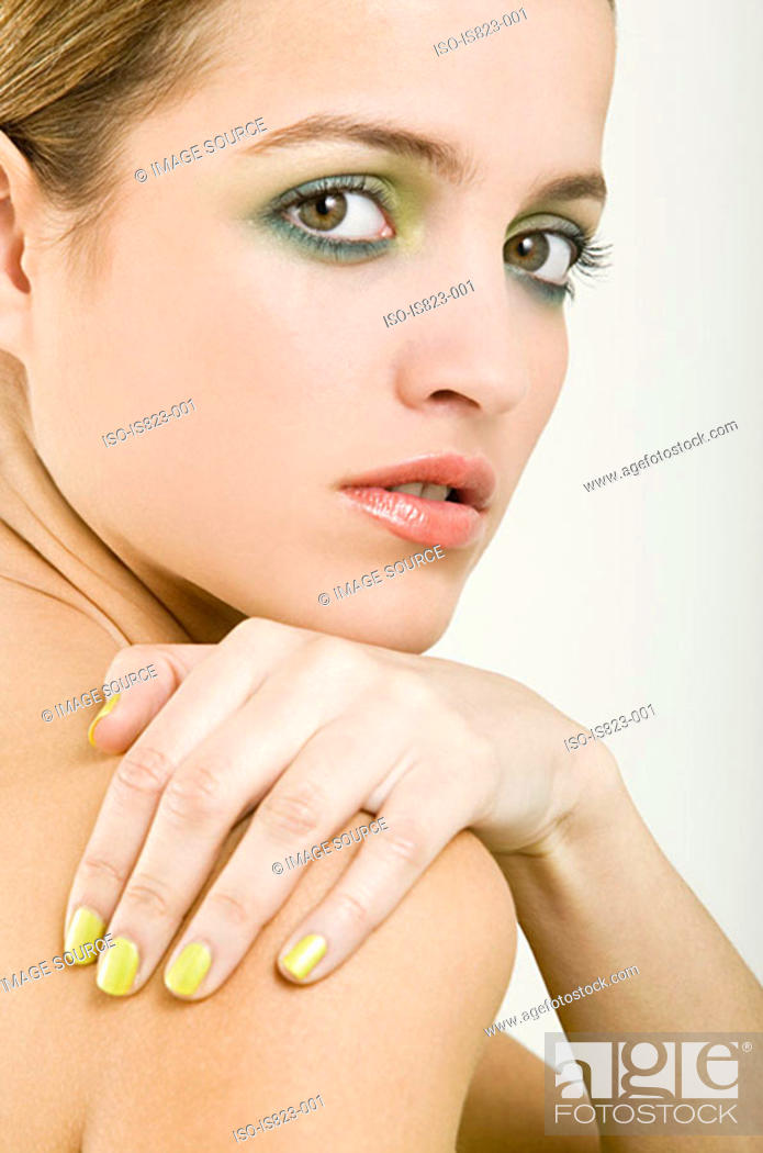 Stock Photo: Portrait of a beautiful young woman.