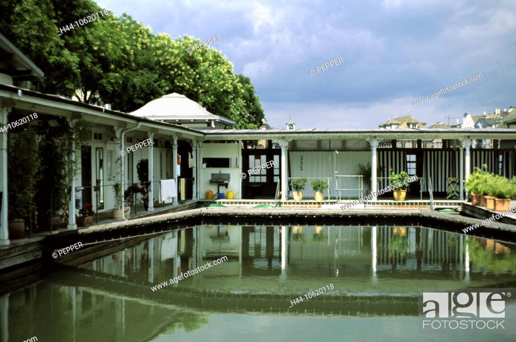 10620118, bath institution, women\'s bath, Frauenbadi, baths, wooden ...
