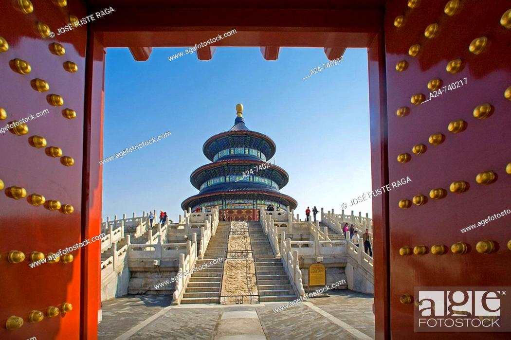 Stock Photo: Qinian Hall (Hall of Prayer for good harvest) in Temple of Heaven, Beijing. China.