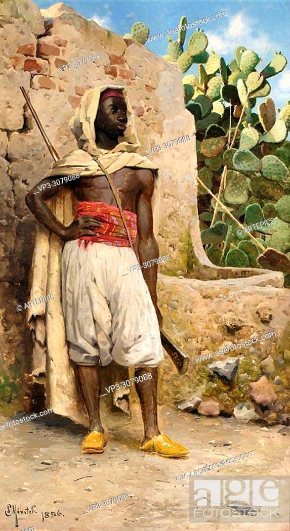 Stock Photo: Monsted Peder Mork - the Nubian Guard.